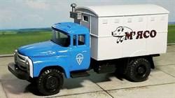 RUSAM-ZIL-130-43-608 Автомобиль ЗИЛ 130 холодильник рефрижератор «М'ЯСО», 1:87, 1963—1986, СССР - фото 13513