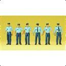 10341 Полиция в летней форме Франция