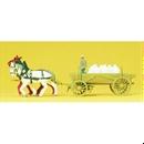 30470 Лошади с телегой с мукой