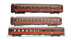 54240-54241-54242 Пассажирские вагоны «Eurofima» (3 шт.), H0, V, ÖBB
