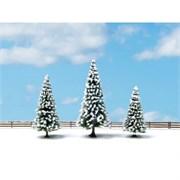 25234 Елки в снегу 8-12см (3шт.) деревья