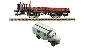 525301 Платформа X 05 + грузовик «DBP», H0, III, DB