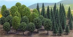 6591 Смешанный лес (50шт) деревья