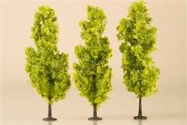 70939 Деревья лиственные (3) светло-зеленые 15 см