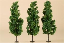 70940 Деревья лиственные (3) темно-зеленые 15 см