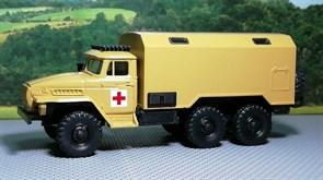 RUSAM-URAL-4320-30-403 Автомобиль санитарный УРАЛ 4320 кунг тип 2, 1:87, 1977, СССР
