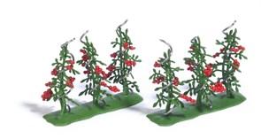 1239 Кусты с помидорами (6), готовая модель