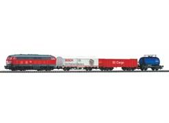 """57154 Стартовый набор «Грузовой состав с тремя вагонами» DB AG. Рельсы на """"призме"""""""