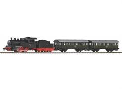 """97933 Стартовый набор «Пассажирский поезд с паровозом». Рельсы на """"призме"""""""