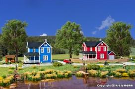 38840 Шведский домик, красный