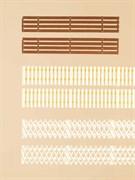 42557 Деревянные заборы (3 вида) (~1800мм)